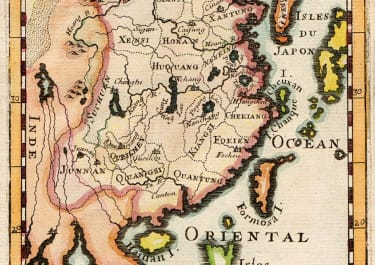 MALLET  MAP OF CHINA 1683
