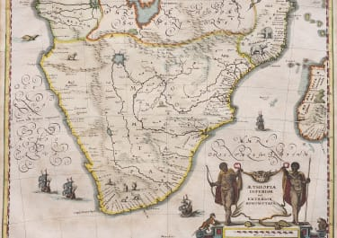 MERIAN'S MAP OF SOUTHERN AFRICA  AFTER BLAEU  1640