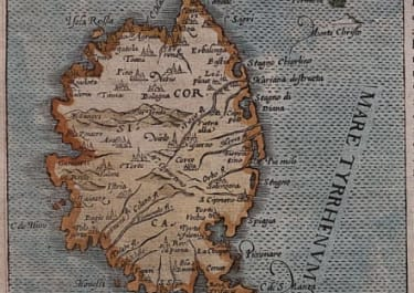 CORSICA BELLEFOREST SCARCE MAP