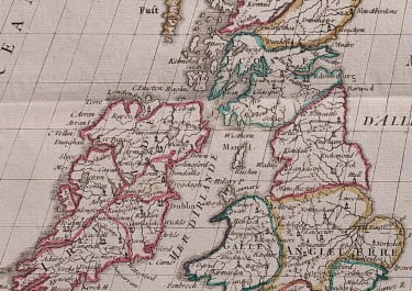 LE ROUGE MAP OF BRITISH ISLES  1748
