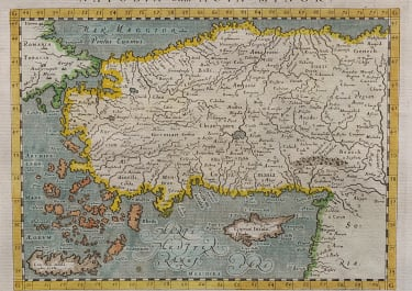 TURKEY AND CYPRUS  MAGINI 1580