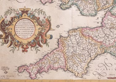MERCATOR FOLIO MAP OF SOUTH WEST ENGLAND CORNWALL DEVON SOUTH WALES