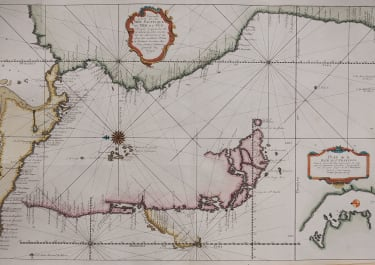 BELLIN'S CHART OF THE PACIFIC SOUTH AMERICAN COASTLINE