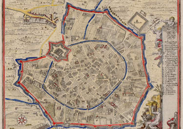 BODENEHR'S MAP OF MILAN