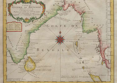 BELLIN  SCHLEY  CHART OF THE BAY OF BENGAL