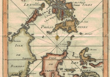 BELLIN MAP OF THE PHILIPPINES SULAWESI AND THE MALUKU ISLANDS
