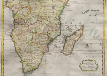 ALBRIZZI  MAP OF SOUTHER AFRICA