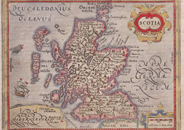 SCOTLAND  MERCATOR HONDIUS ATLAS MINOR