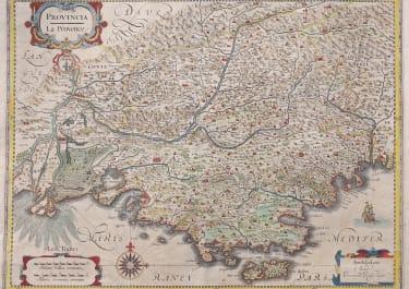 JANSSONIUS MAP OF PROVENCE  ORIGINAL COLOUR