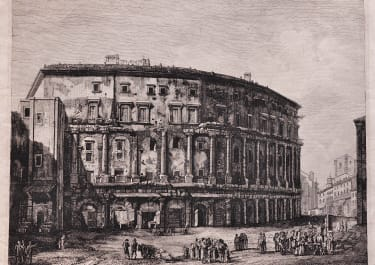 ROSSINI'S SUPERB ENGRAVING OF THEATRE OF MARCELLO