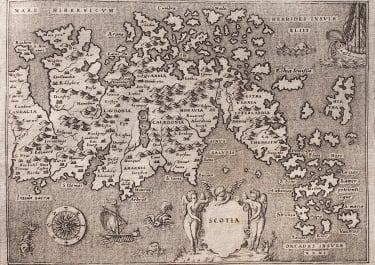 PORCACCHI FINE MAP OF SCOTLAND