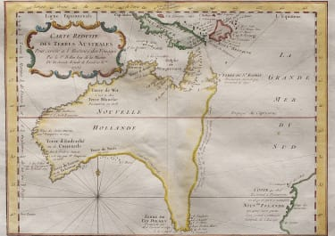 BELLIN SOUGHT AFTER EARLY MAP OF   AUSTRALIA