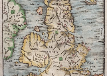 MUNSTER'S EARLY MAP OF ENGLAND WALES SCOTLAND