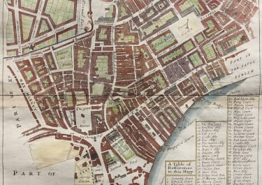 STOW  STRYPE  MAP OF COVENT GARDEN TO LEICESTER SQUARE   1720