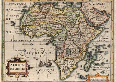 AFRICA    MERCATOR HONDIUS   ATLAS MINOR   1608