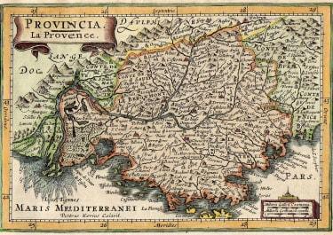 PROVENCE FRANCE   MERCATOR HONDIUS  ATLAS MINOR   1610