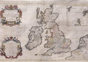 JAILLOT   SUPERB WALL MAP OF BRITISH ISLES
