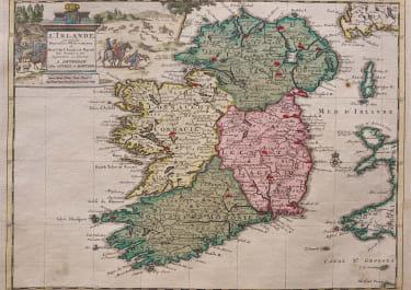 SCARCE ORIGINAL COLOUR MAP OF IRELAND
