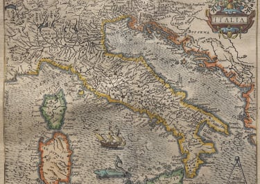 QUAD'S SCARCE MAP OF ITALY