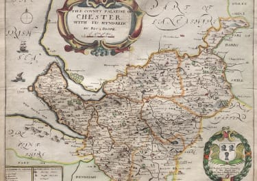 BLOME'S MAP OF CHESHIRE