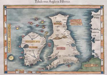 FRIES  MAP OF MODERN BRITISH ISLES   1522  1541