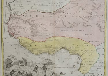 SCARCE LARGE FOLIO MAP OF WEST AFRICA