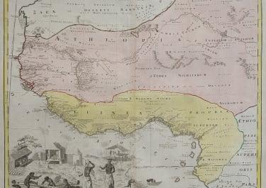 SCARCE LARGE FOLIO MAP OF WEST AFRICA