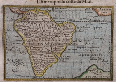 LANGENES MAP OF SOUTH AMERICA