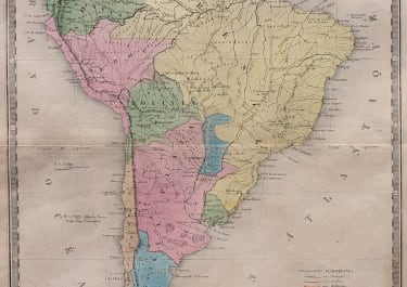 ANSART MAP OF SOUTH AMERICA  ORIGINAL COLOUR 1846