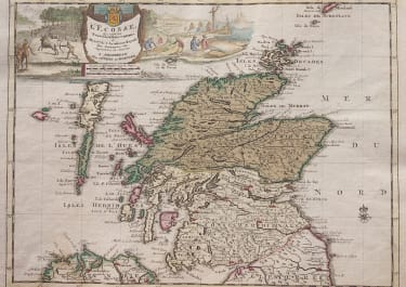 COVENS MORTIER SCARCE MAP OF SCOTLAND
