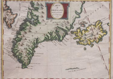 GREENLAND ICELAND MAP BT LAURENT AND BELLIN 1770