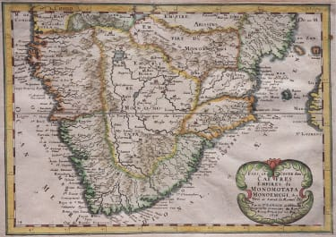 SANSON MAP OF SOUTHER AFRICA 1650