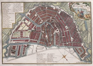 AMSTERDAM   STOCKDALE PLAN OF THE CITY 1800