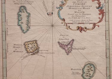 BELLIN MAP OF THE COMOROS ISLANDS