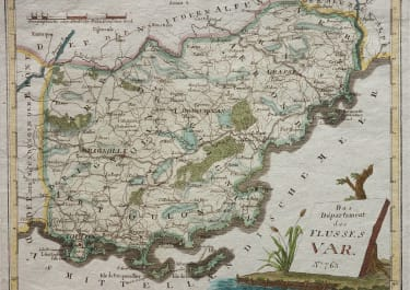 REILLY MAP OF THE VAR DEPARTMENT  1789