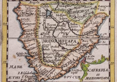 DUVAL  SMALL MAP OF SOUTHERN AFRICA