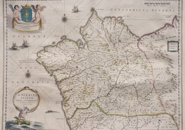 GALICIA    BLAEU  BEAUTIFUL WITH  ORIGINAL COLOUR