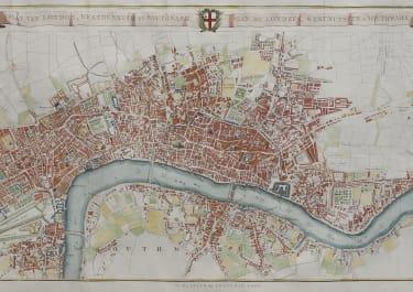 RARE  BOHN, VAN BAARSEL  PLAN OF LONDON 1765