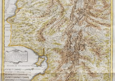 ANVILLE MAP OF ECUADOR WITH FRENCH TRIANGULATION 1751