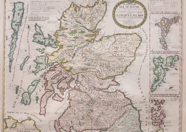 SCARCE CORONELLI  NOLIN MAP OF SCOTLAND
