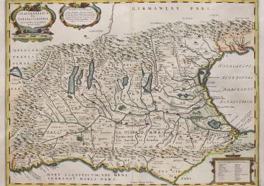 ORTELIUS  JANSSONIUS FOLIO MAP   OF NORTH ITALY 1680