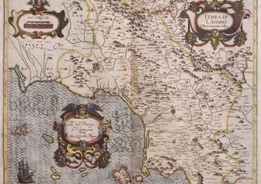 SCARCE MAGINI FOLIO MAP THE NAPLES GAETA AREA BY MAGINI 1620