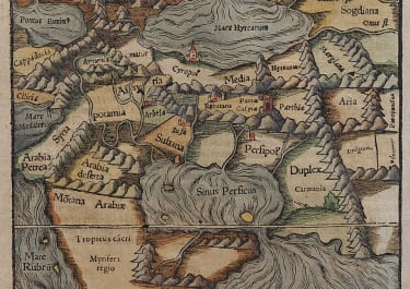 MUNSTERS MAP OF EARELY ARABIA 1570
