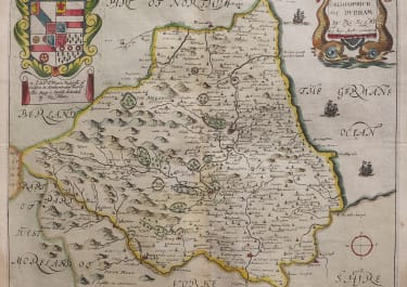 BLOME MAP OF DURHAM 1673