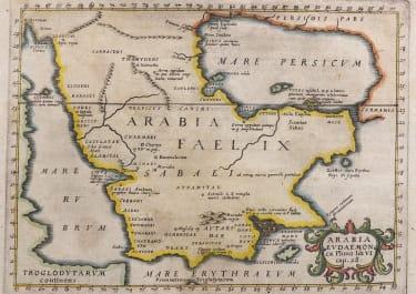 ARABIA  BY CLUVERIUS  JANSSONIUS  1629