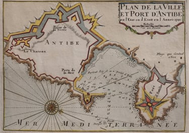 MICHELOT SCARCE PLAN OF THE PORT OF ANTIBES 1720