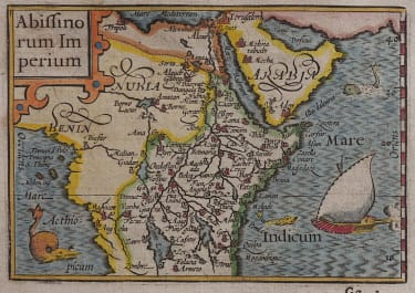 LANGENES EARLY MAP OF EAST AFRICA 1598