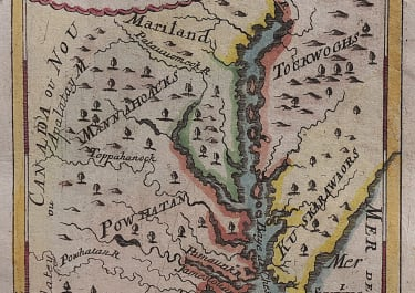 MALLET MAP OF VIRGINIA  1695