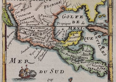 MALLET MAP MEXICO  NEW MEXICO 1693