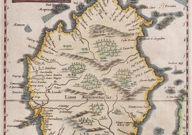 BORNEO  SCARCE VAN DER AA MAP